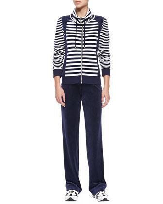 Striped Jersey Two-Piece Jogset