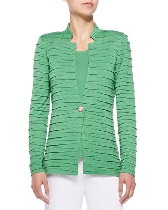 Sliced One-Button Jacket, Women's