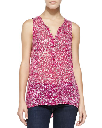 Daija Printed Button-Loop Tank
