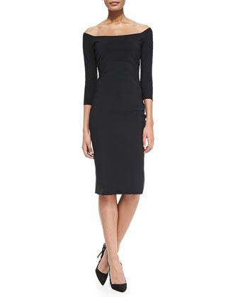Felicity Off-the-Shoulder Cocktail Dress