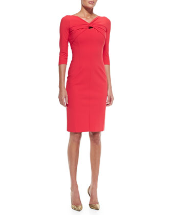 Rosanna Front Twist Cocktail Dress