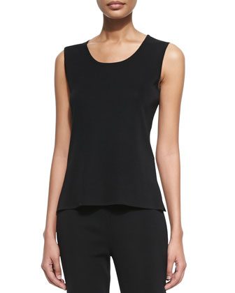 Scoop-Neck Layering Tank, Black
