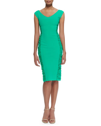Lina Body-Con Cocktail Dress W/ Ruched Sides