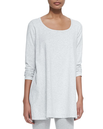 Scoop-Neck Long-Sleeve Tunic, Women's