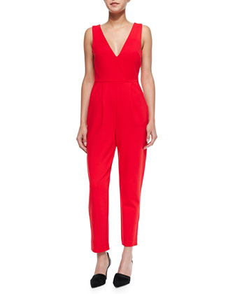 Marie Sleeveless Cropped Jumpsuit