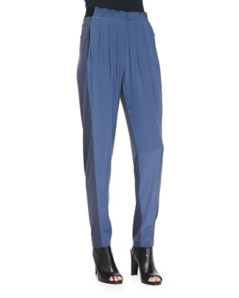 Gemma Colorblock Silk Track Pants