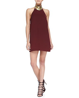 Modern Myth Halter-Neck Mini Dress