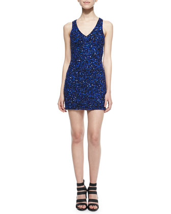 Haiti Open-Back Sequined Dress