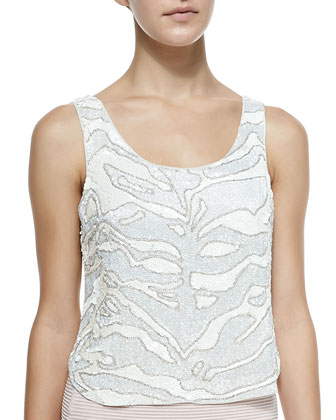Eliza Sequined Mesh Tank