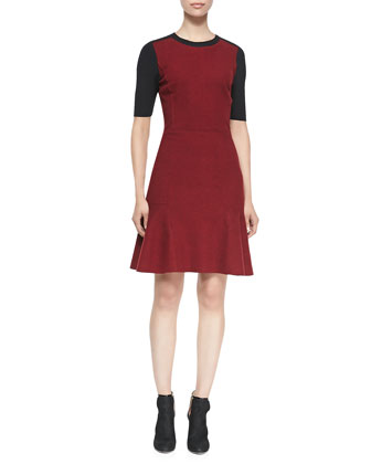 Linore Colorblock Flounce Dress