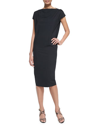 Shirley Short-Sleeve Midi Dress