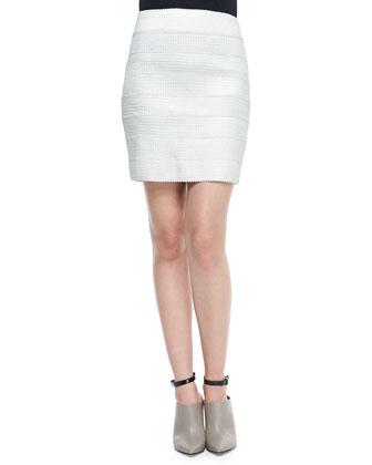 Stella Scalloped Bandage Miniskirt