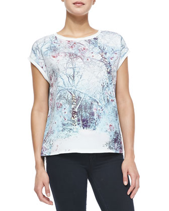 Jamma Forest-Print/Solid Tee