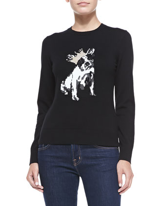 Ashorne Crowned Bull Dog Intarsia Sweater