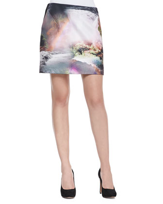 Silloh Waterfall Knit Mini Skirt