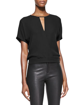 Blair Short-Sleeve Blouson Top