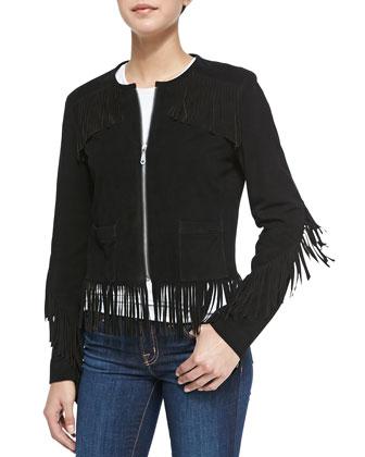 Stella Suede Jacket W/ Fringe