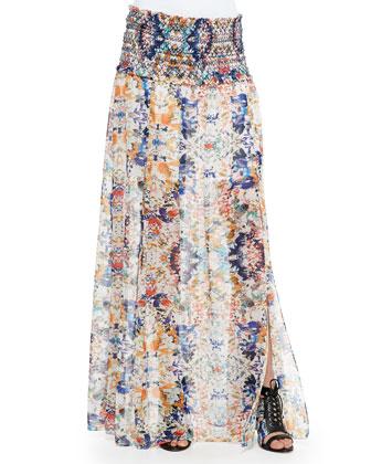 Delilah Floral Skirt W/ Shirred Waist