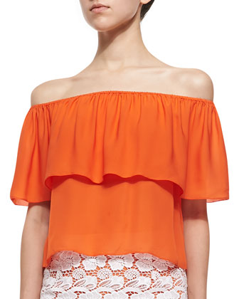 Dev Off-the-Shoulder Ruffle Top
