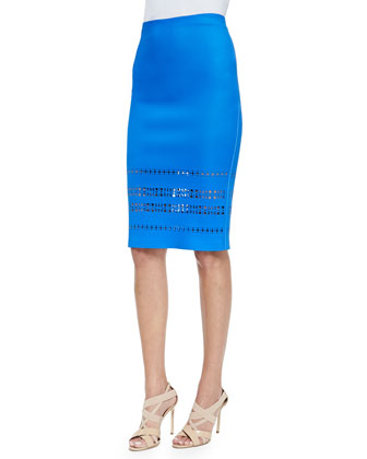 Pencil Skirt W/ Laser-Cut Hem