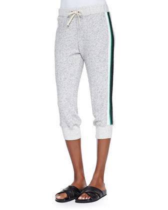 Short-Sleeve Side-Zip Sweatshirt, Striped Torqued-Seam Muscle Tee & Cropped ...