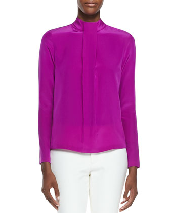 Yves High-Neck Blouse