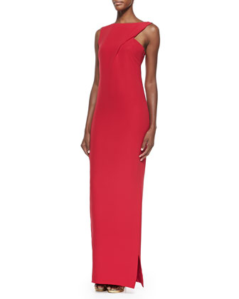 Mika Diagonal Draped Gown
