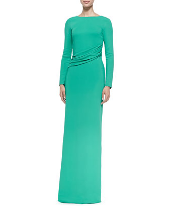 Verena Asymmetric Shifted Gown