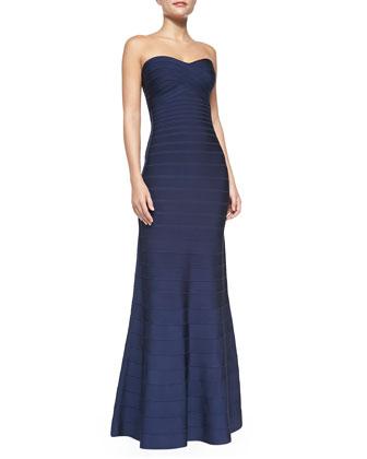 Sara Signature Strapless Essential Gown, Classic Blue