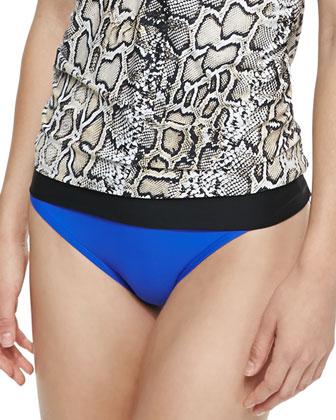 Banded-Hem Strapless Swim Top & Classic Swim Bottom