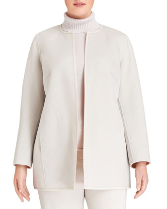 Pria Two-Tone Double-Faced Jacket, Sachet/Vapor