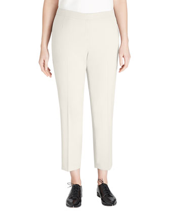 Crepe Slim Ankle Pants, Dovetail, Women's