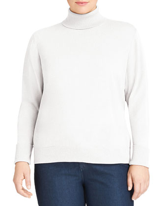 Long-Sleeve Wool Turtleneck, Women's