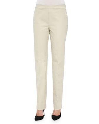 Flat-Front Bleecker Pants, Khaki