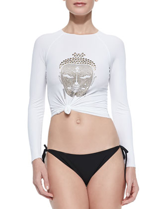 Sexy Surfer Shirt with UPF 40+ Protection, Zen White