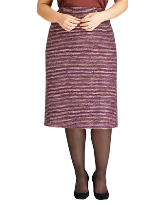 Priscilla Tweed Pencil Skirt, Date Multi, Women's