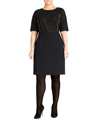 Filigree Lace Shift Dress