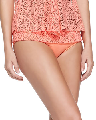 Tie-Front Cutout Bandini Top & Fold-Over Cutout Swim Bottom