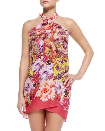 Rose/Paisley-Print Pareo & Rose/Paisley-Print String Bikini