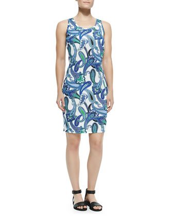 Sleeveless Paisley Tank Dress