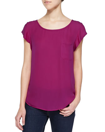 Rancher Short-Sleeve Blouse with Pocket