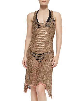Sleeveless Crochet Coverup Dress