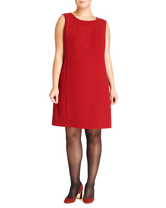 Ester Sleeveless Crepe Dress, Women's