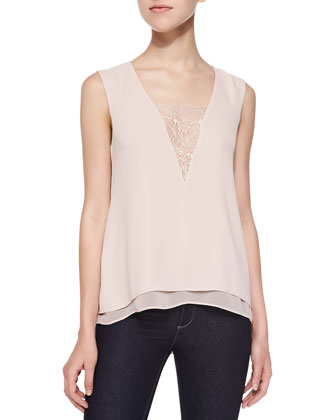 Mishelle Tank with Lace Inset