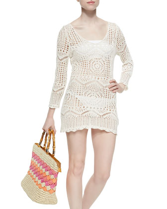 Light Glam Crochet Coverup
