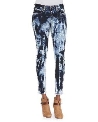 Rivera Skinny Tie-Dyed Jeans, Blue