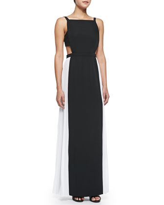 Brielle Combo Gown W/ Cutout Back