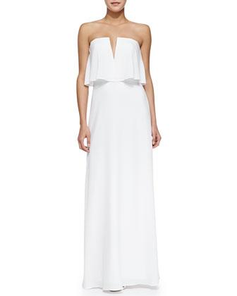 Alyse Strapless Dress w/Flowy Bodice