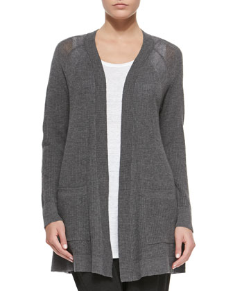 Washable Wool Long Cardigan