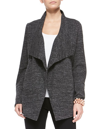 Terrazzo Stretch Long Jacket, Petite